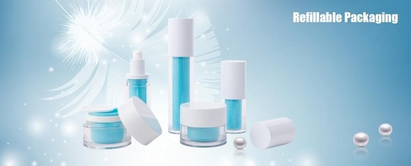 Refillable jar and bottle: the jar has capacity 50ML and 100ML, for the bottle, it's an airless bottle, now we have capacity 20ML 30ML 50ML and 80ML