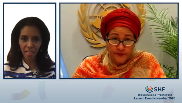 """Ms Amina J. Mohammed, United Nations Deputy Secretary-General, described safe sanitation and hygiene as """"critical to the response that we want to see, first, because it is about human dignity. Second, it is a health issue."""""""