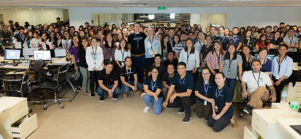 In this photo taken in February 2020, before quarantine restrictions began in Cebu City, Philippines, the Go Virtual Assistants (GO-VA) tribe gathers for the monthly lunch, CEO presentation, and announcement of Values Awardees.