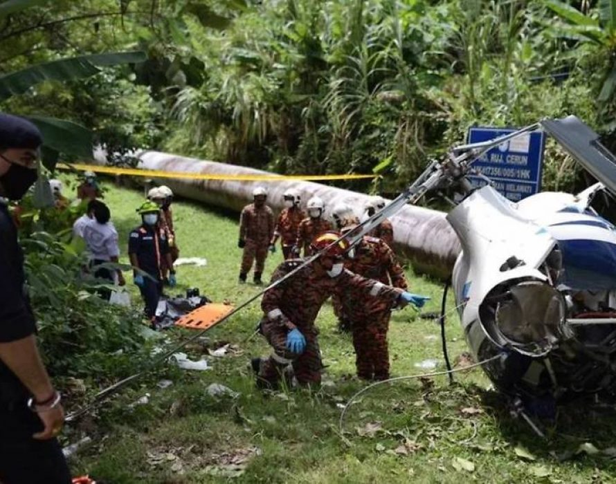 First helicopter crash involving G2CA in Malaysia, 45th incident in a decade