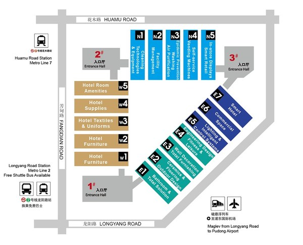 New hall layout of Hotel Plus 2021