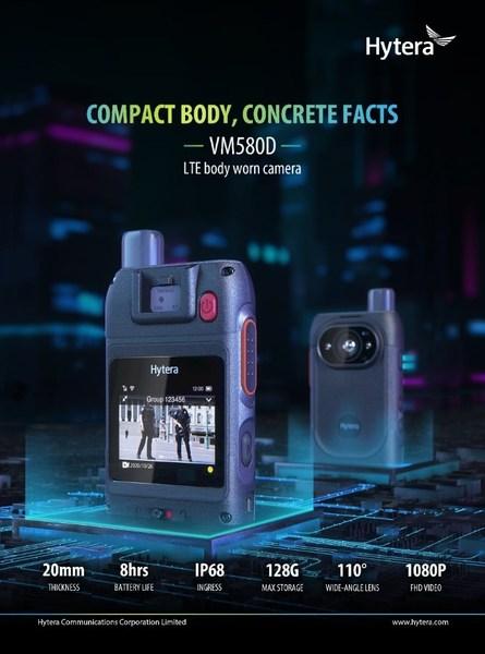 Hytera's Latest Ultra-thin, Smart Bodycam VM580D