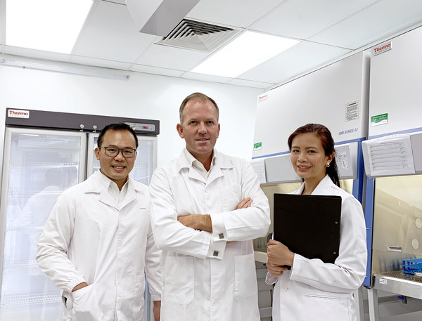 From left to right: Dr. Chia-Pin Chang - Vice President of Research & Development, Kane Black - Chief Executive, Dr. Sherry Ho - Laboratory Director