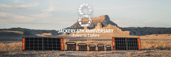 Jackery Celebrates the 8th Anniversary and Announces a Sale on All Jackery Solar Generators