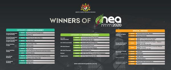 Winners of National Energy Awards 2020 (NEA 2020)