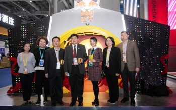 """Marking the 45th Anniversary of Sino-Thailand Diplomatic Relationship, His Excellency The Ambassador of the Kingdom of Thailand in China visits TCP Red Bull's global """"House of Brands' Booth at the 2020 CIIE."""