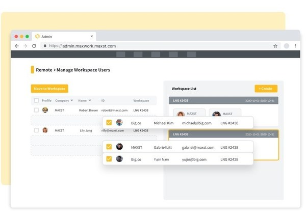 Administrators can freely set up environments such as classifying users by company, team, and project unit.