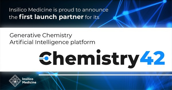 Insilico announces the first launch partner for Chemistry42