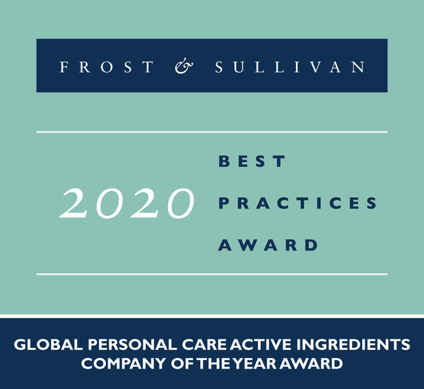 2020 Global Personal Care Active Ingredients Company of the Year Award