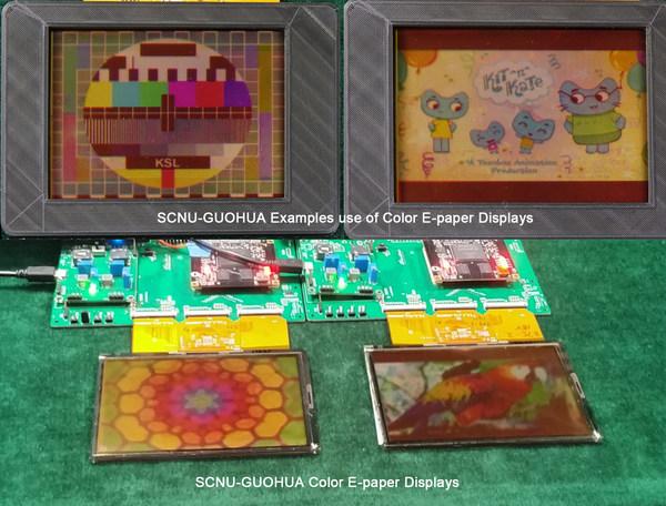 Color e-paper displays