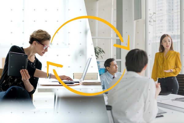 Hybrid workplaces enable and equip disparate teams to collaborate effectively, no matter if they are at home or at the office.