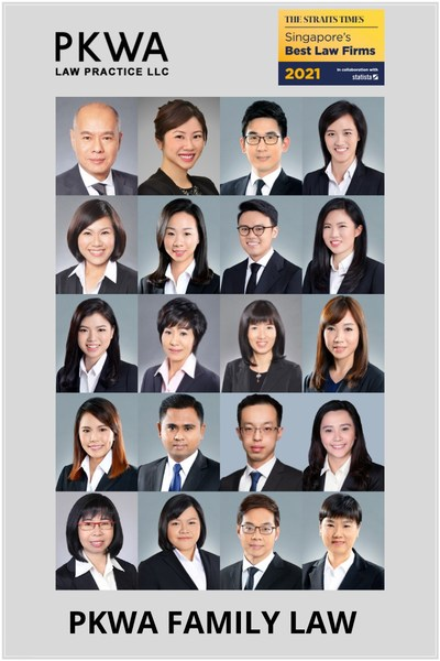 PKWA Law amongst the top tier law firms for family law, divorce, wills and probate in Singapore