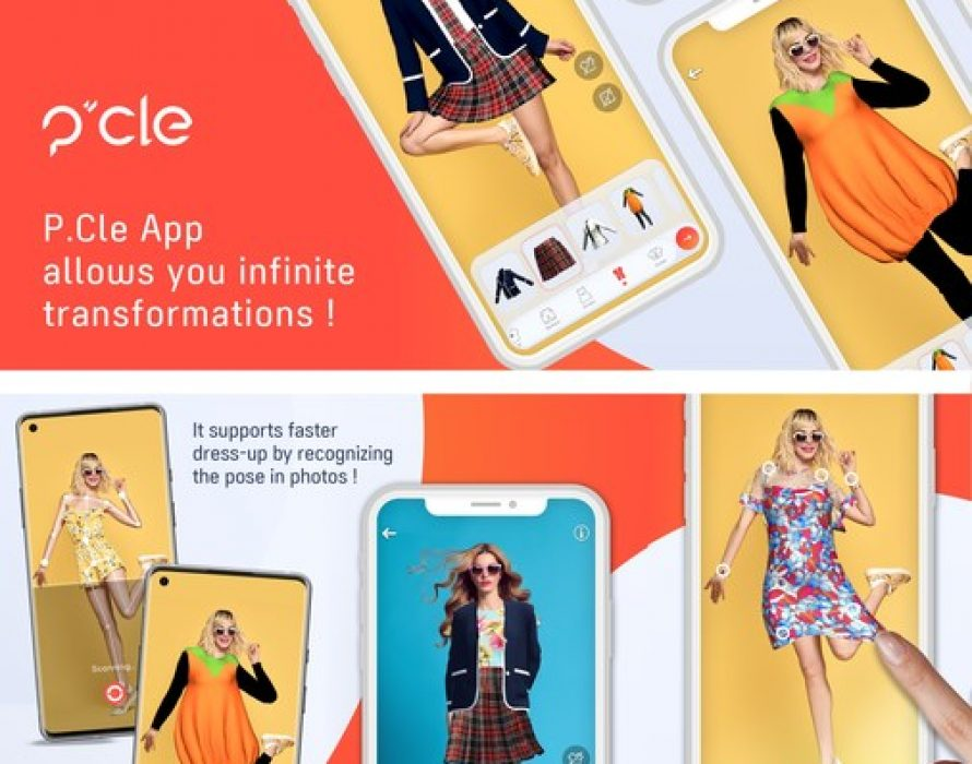 """Pocket Memory, the Corporation Specializing in Creating VR Content, Introduces the Virtual Fashion Lifestyle Mobile app """"P.Cle"""""""