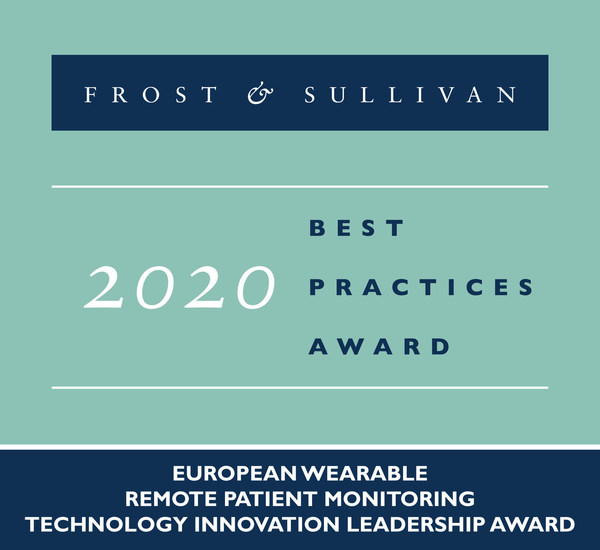 2020 European Wearable Remote Patient Monitoring Technology Innovation Leadership Award
