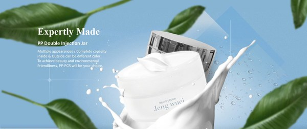 JENG WUEI's highly professional and beautifully clean style of PP Double Injection jar epitomise the high-quality and versatile packaging this Taiwanese company is able to create