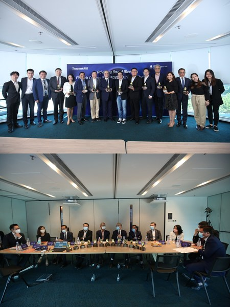 PHOTO 1: Tencent Finance Academy (Hong Kong) welcomes members of its newly formed advisory board. PHOTO 2: Tencent Finance Academy (Hong Kong) advisory board holds its first meeting, discussing key challenges needed to be addressed in order to promote long-term FinTech development in the Greater Bay Area.