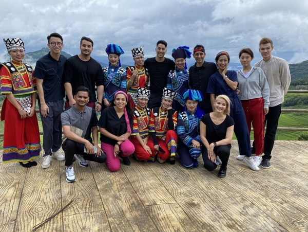 International employees in Hani terrace in Yunnan province
