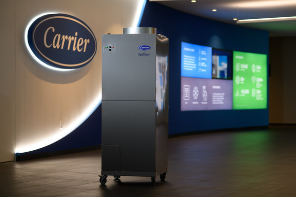 Carrier's OptiClean™ Dual-Mode Air Scrubber & Negative Air Machine has been named as one of TIME's 100 Best Inventions of 2020. The OptiClean was developed through rapid innovation in early 2020 to help support infectious isolation rooms in hospitals.