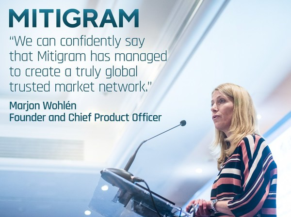 Mitigram's Founder and Chief Product Officer Marjon Wohlén