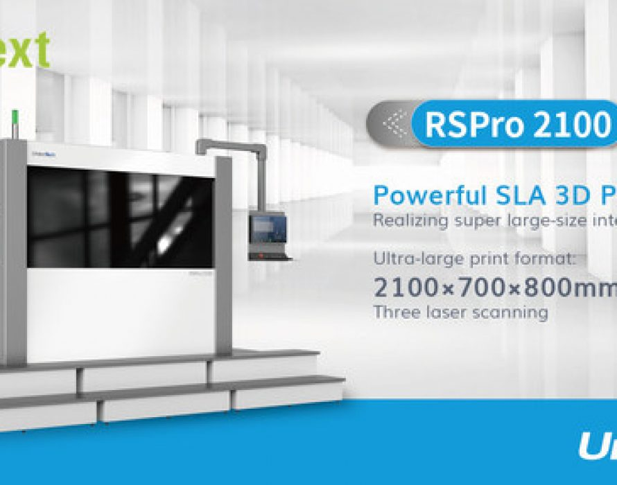 UnionTech launched its new product of the ultra-large format SLA 3d printer RSPro 2100 at the online show-Formnext Connect 2020