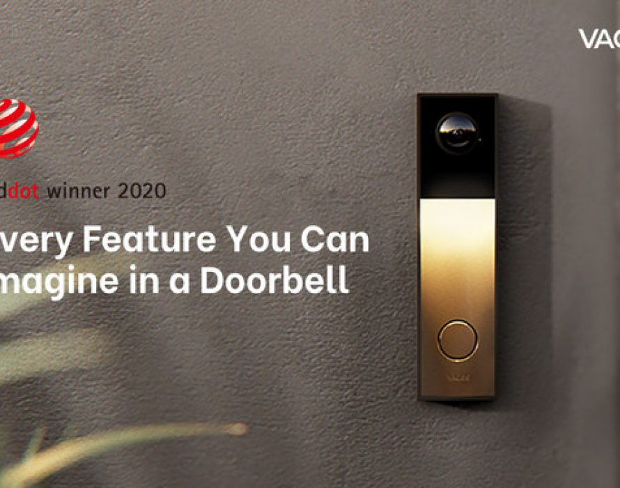 Vacos Launches World's Most Versatile and Advanced Video Doorbell on Indiegogo, a 2K AI Smart Doorbell Wins 2020 Red Dot Award