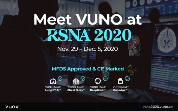 VUNO Boasts its AI Solutions and Research Results at RSNA 2020