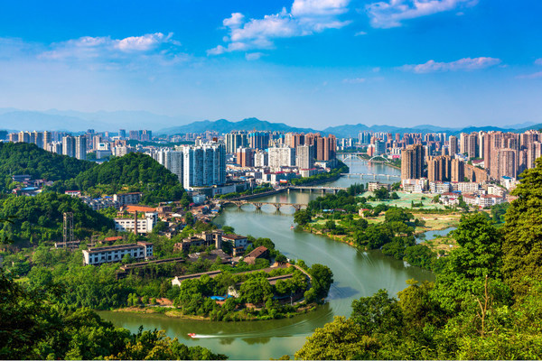 Scenes of the Liuyang River located in Liuyang City, central China's Hunan Province.