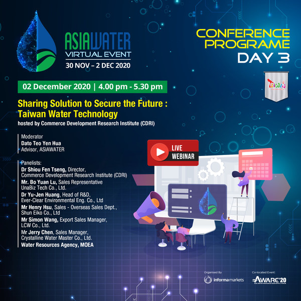 ASIAWATER Virtual 2020 – Day 3 conference by CDRI, Taiwan