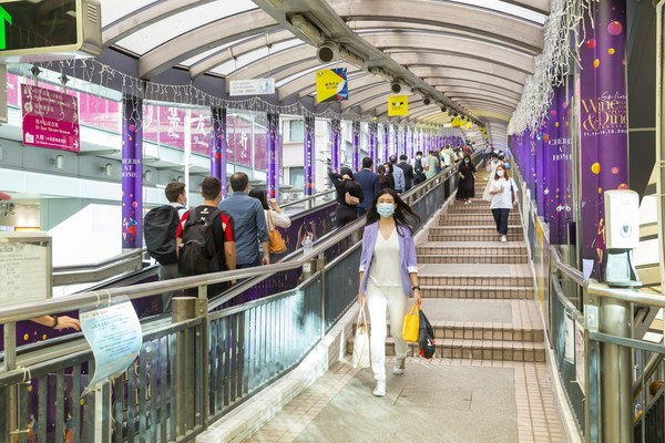 The Central-Mid-Levels Escalator and Walkway System is world's longest outdoor covered escalator system in the world.
