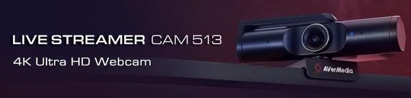 Live Streamer Cam 513 4K Ultra HD Webcam