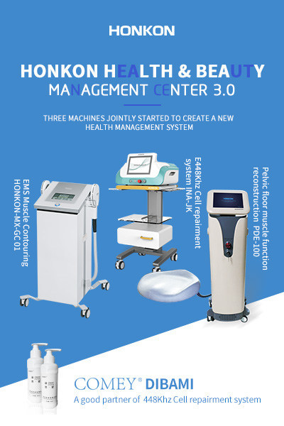 HONKON's trio of high-tech machines create a new health management system that covers muscle contouring, cell repair and pelvic floor muscle function