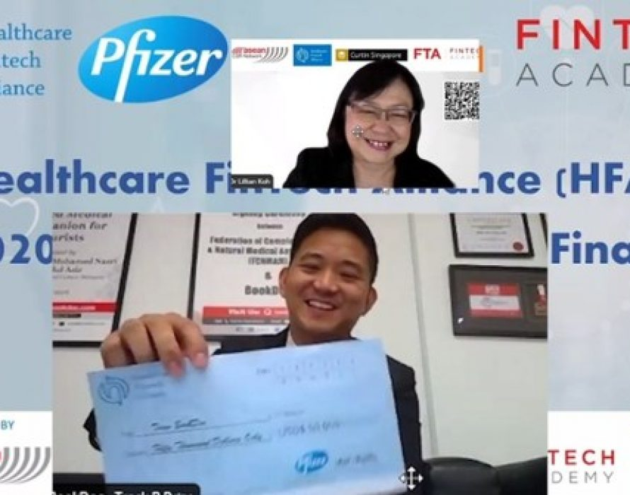 BookDoc won the Pfizer and Alibaba jointly organized competition – Healthcare Fintech Alliance (HFA) Innovation Challenge, Asia