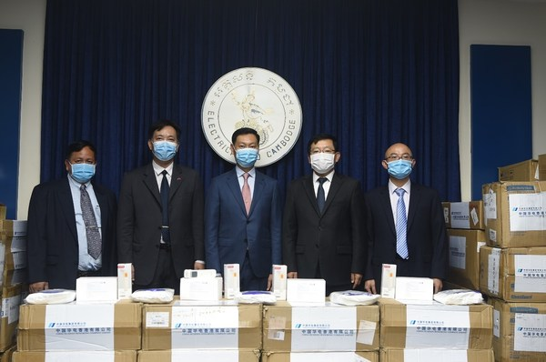 During the pandemic, CHD donated a total of 1.33 million RMB worth of masks, disinfectants, and protective gear to relevant government agencies and partners in Cambodia.