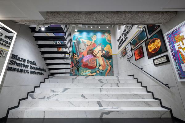 Cole Haan GrandShøp Cat Street - Interior Lauren Tsai #WriteNewRules Mural