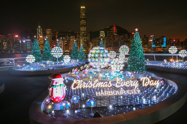 "Harbour City, Hong Kong transforms "" Ocean Terminal Deck"" into a ""Christmas Lighting Garden"""
