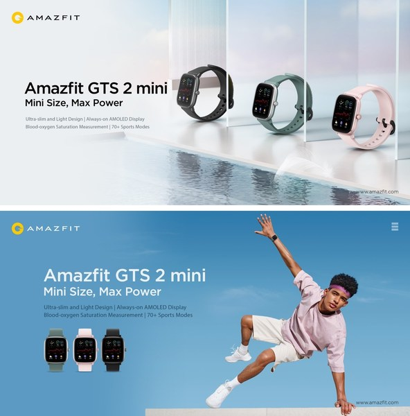 Amazfit GTS 2 mini, lightweight and ultra-slim smartwatch - Fashionable Fitness for Everyone