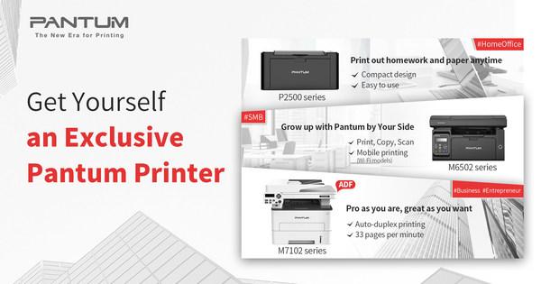 Pantum printers: P2500 series, M6502 series and M7102 series