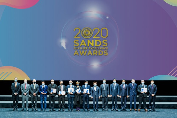 Some of Sands China's most outstanding suppliers are recognised at the 2020 Sands Supplier Excellence Awards Friday at The Venetian Theatre.