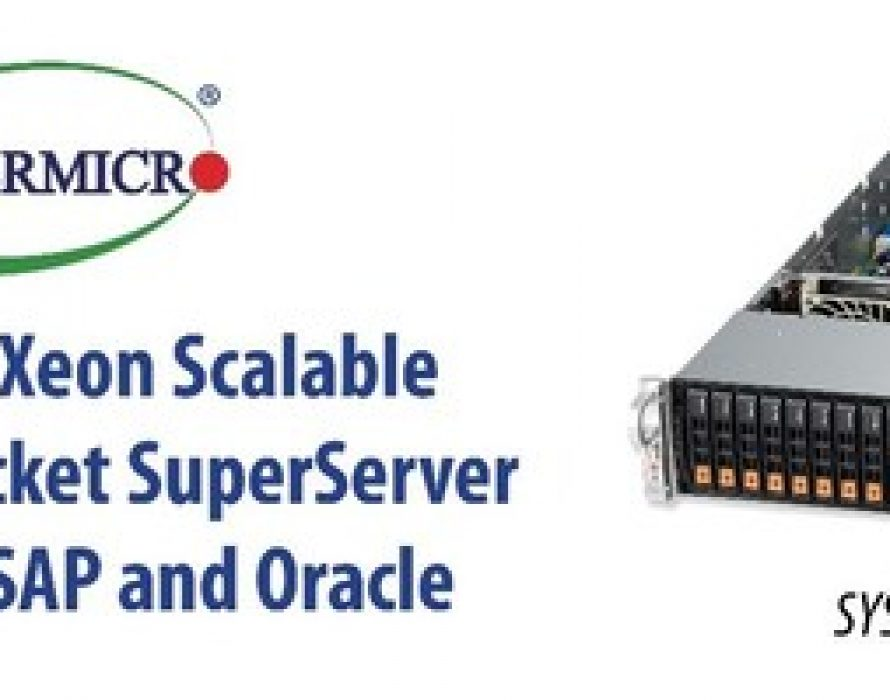 Supermicro Enterprise-Class 4-Socket SuperServer Now Certified for SAP and Oracle Workloads