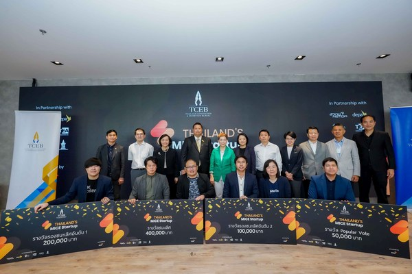 Thailand Convention and Exhibition Bureau (TCEB) announced the winners of the 3rd Thailand's MICE Startup competition, a project aimed to develop innovative solutions for the operation of new normal MICE