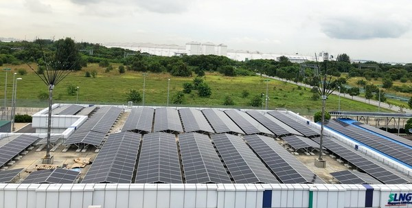 Construction of solar PV panels for SLNG has begun. Rooftop solar project developed, built and financed by Total Solar DG. [Photo: Total Solar DG]
