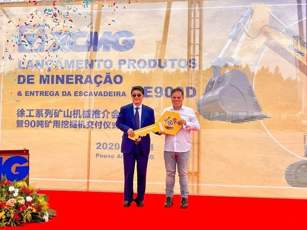 XCMG 90-ton mining excavator XE900D Has Been Delivered at Pouso Agegre, Brazil to Boost Local Industrial Development.