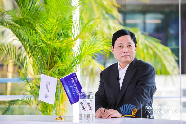 Photo shows Li Qiuxi, Chairman of Fenjiu Group.