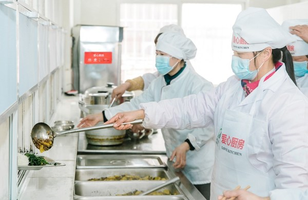 Modern kitchen equipment donated by Yum China
