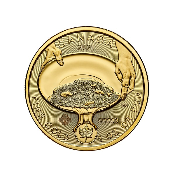 The Royal Canadian Mint's pure gold coin marking the 125th anniversary of the famous Klondike gold rush
