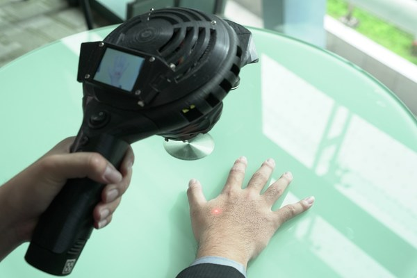 HAAS is a handheld, AI-enabled device that identifies acupoints and positioning using AI image recognition technology.