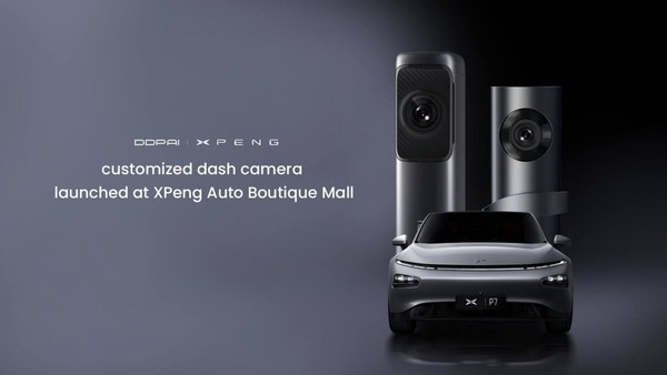 DDPAI x XPeng customized dash camera launched at XPeng Auto Boutique Mall