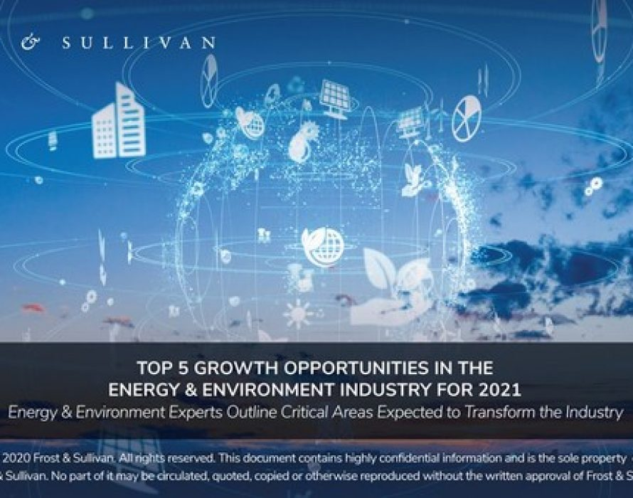 Frost & Sullivan Experts Unveil the Top 5 Growth Opportunities for Energy & Environment in 2021