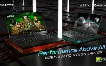 GIGABYTE Unveils New RTX 30 Series Notebook Lineup