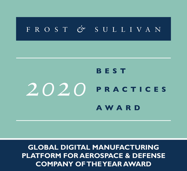 2020 Global Digital Manufacturing Platform for Aerospace & Defense Company of the Year Award